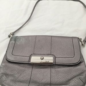 Coach Silver Shoulder Bag